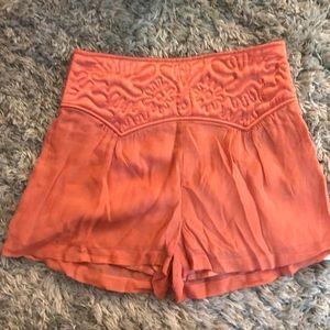 NWT TopShop Perfect Summer Orange Shorts